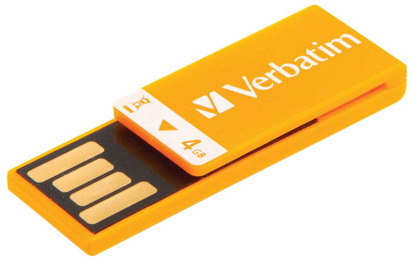 флешка USB Verbatim Clip-it 4Gb orange