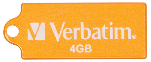 флешка USB Verbatim Micro 4Gb orange