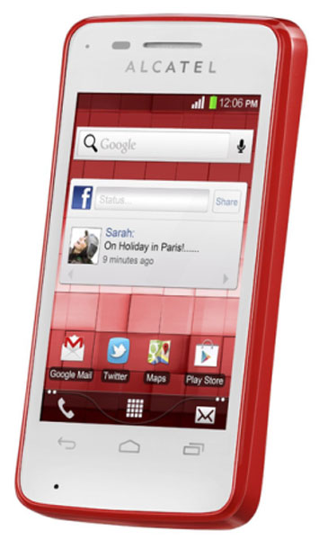 смартфон Alcatel OT4010D T-POP flash red