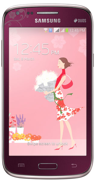 смартфон Samsung GT-I8262 (Galaxy Core) La Fleur wine red
