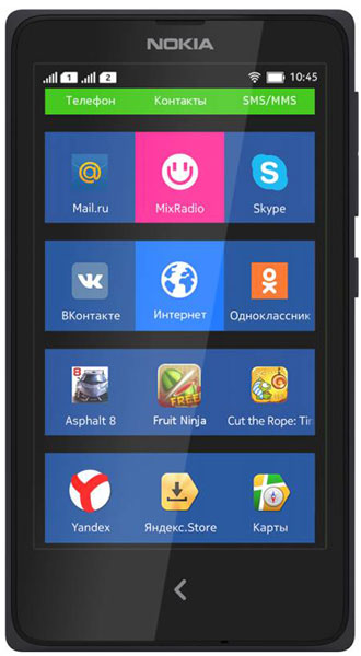 смартфон Nokia X DS black по самой выгодной цене . Купить смартфон ... b611c6fe4eecf