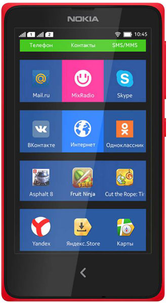 смартфон Nokia X DS red