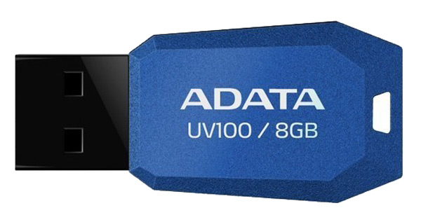 флешка USB A-DATA UV100 8Gb blue