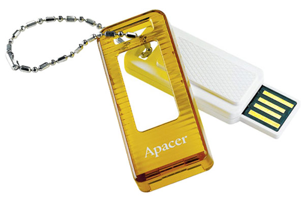 флешка USB Apacer AH162 4Gb white/orange