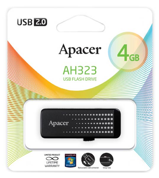 флешка USB Apacer AH323 4Gb black