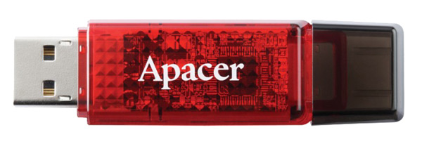 флешка USB Apacer AH324 4Gb aqua red