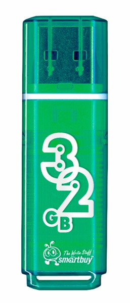 флешка USB SmartBuy Glossy series 32Gb green