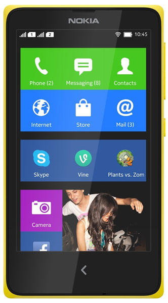 смартфон Nokia X DS yellow