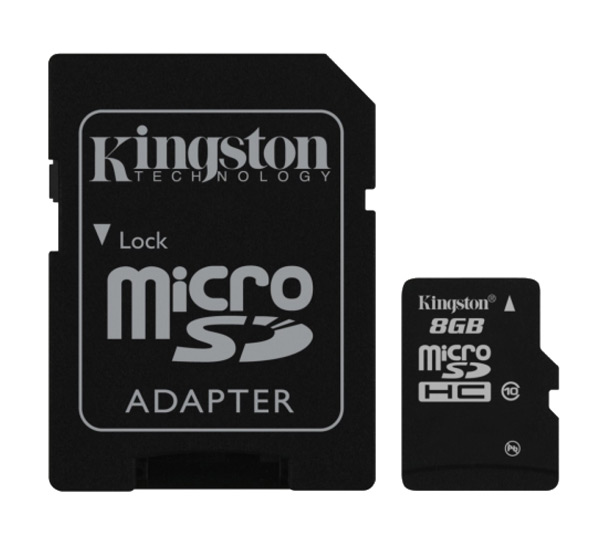 карта памяти Kingston 8Gb microSD Class 10