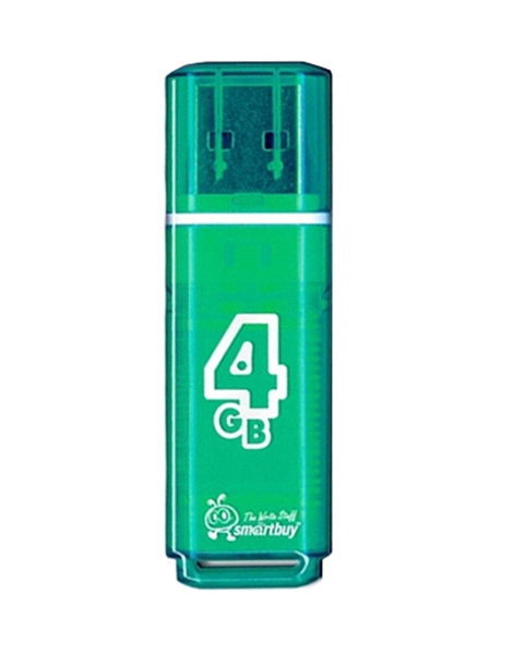 флешка USB SmartBuy Glossy series 4Gb green