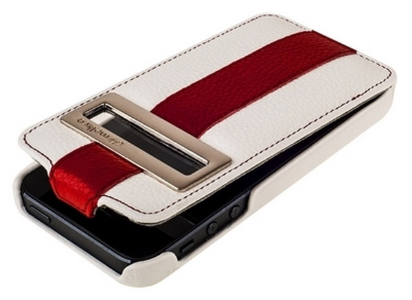 чехол Melkco iPhone 5 Limited Edition ID Jacka Type white/red LC