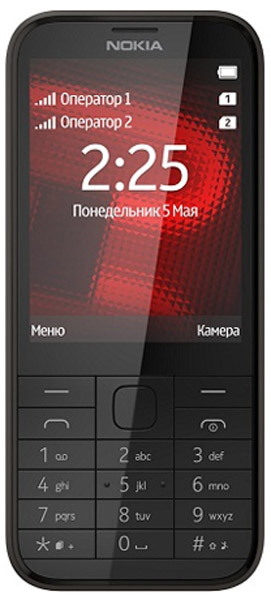e1341719e85 мобильный телефон Nokia 225 Dual sim black по самой выгодной цене ...