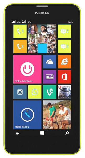 смартфон Nokia Lumia 630 DS yellow