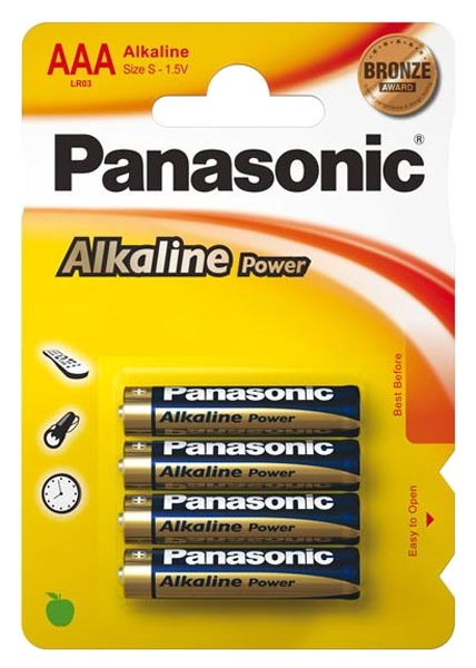 батарейки Panasonic LR03/AAA Alkaline Power-3+1BL