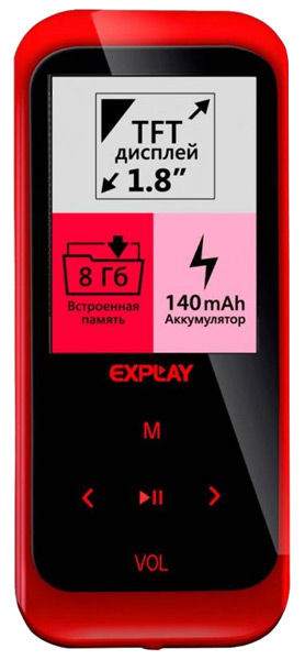 MP3 - плеер Explay Summer 8Gb red