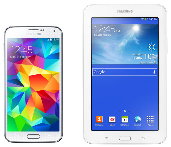 смартфон Samsung SM-G900F Galaxy S5 16Gb + T110 white