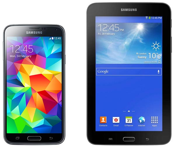 смартфон Samsung SM-G900F Galaxy S5 16Gb blue + T110 black