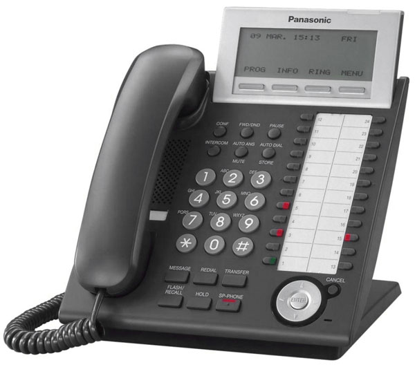 системный IP-телефон Panasonic KX-NT346RU black