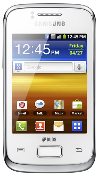 смартфон Samsung GT-S6102 ( Galaxy Y Duos) pure white