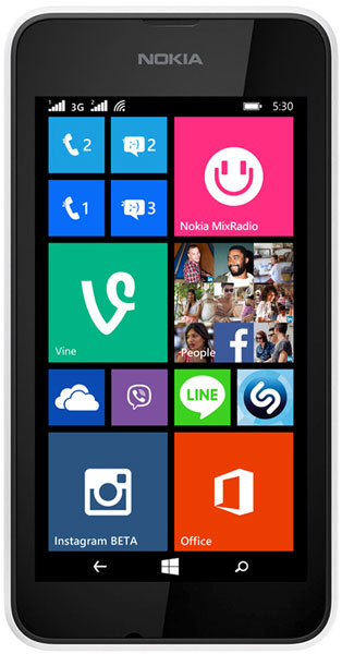 смартфон Nokia Lumia 530 DS white