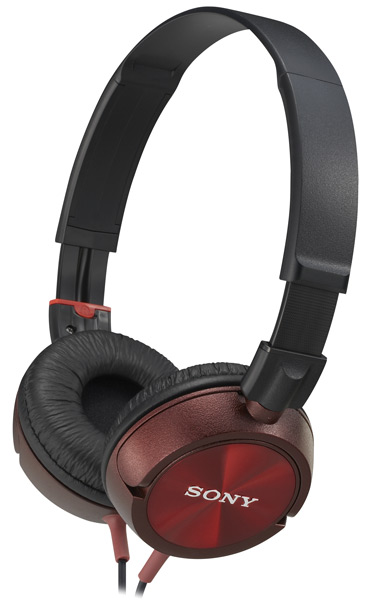 наушники Sony MDR-ZX300 red