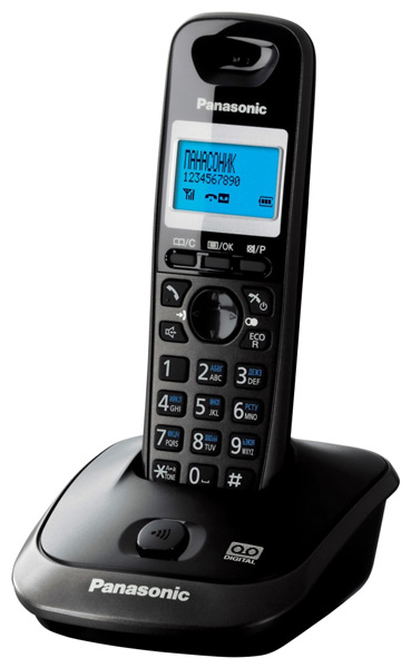 радиотелефон DECT Panasonic KX-TG2521RU dark grey