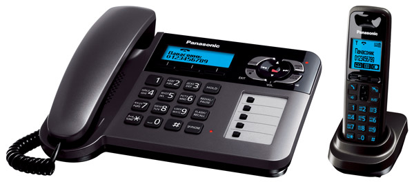 радиотелефон DECT Panasonic KX-TG6461RU dark grey