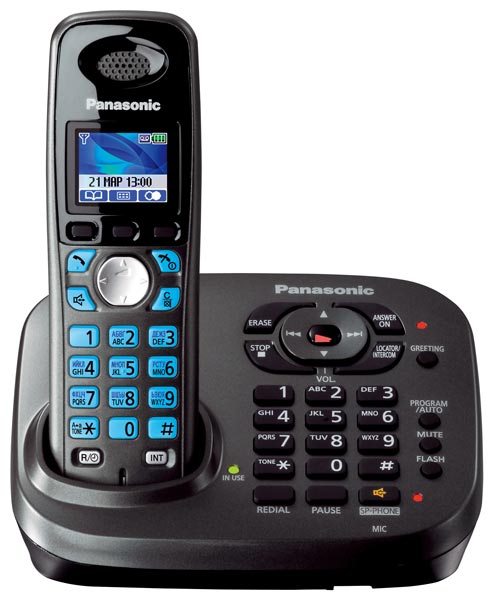 радиотелефон DECT Panasonic KX-TG8041RU dark grey