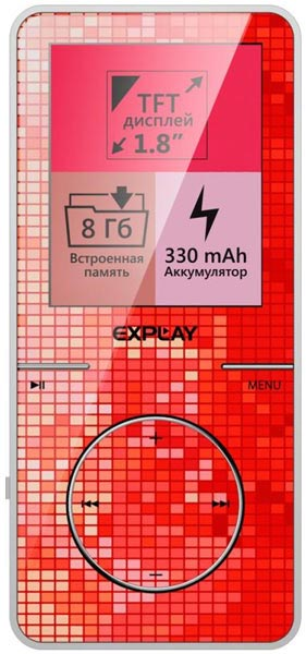 MP3 - плеер Explay Art 8Gb red
