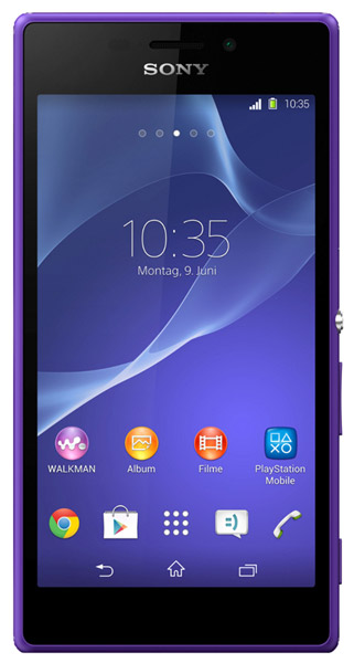 смартфон Sony D2302 Xperia M2 Dual purple