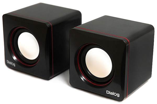 колонки Dialog Colibri AC-04UP black/red
