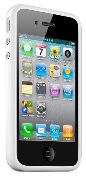 бампер Apple iPhone 4s/ iPhone 4 Bumper white
