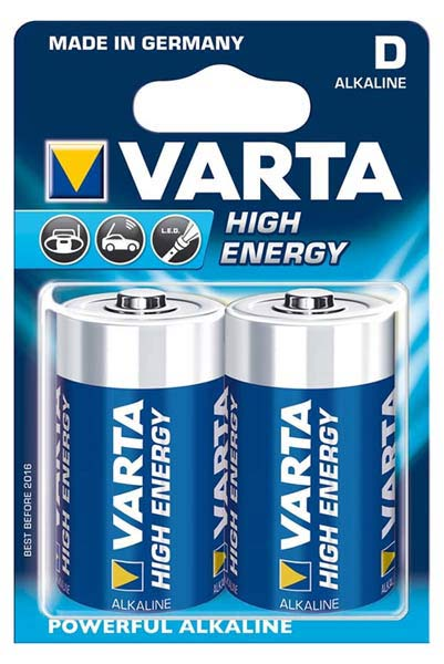 батарейки (2 шт.) Varta LR20/D High Energy-2BL