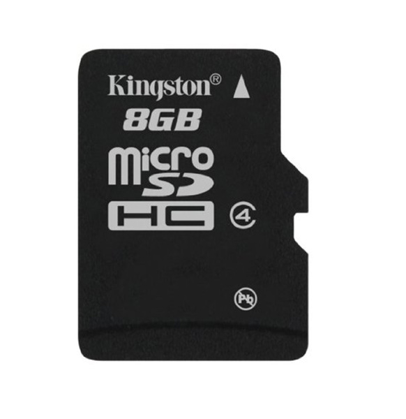 карта памяти Kingston 8Gb microSDHC Class 4 без адаптера black