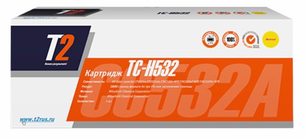 картридж T2 TC-H532 Yellow желтый