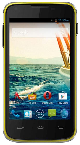 смартфон Micromax Canvas QUAD A092 yellow