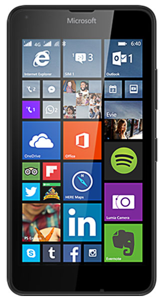 смартфон Microsoft Lumia 640 LTE DS black