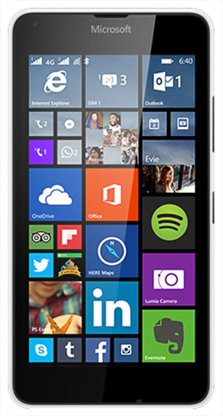 смартфон Microsoft Lumia 640 LTE DS white