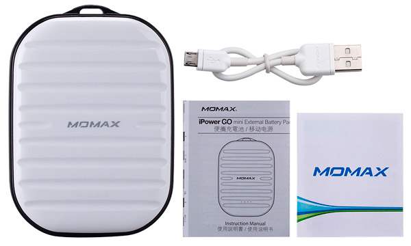 внешний аккумулятор Momax Power Bank iPower Go mini IP35D 7800 mAh white