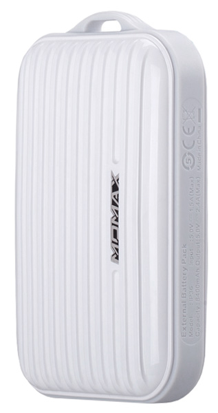 внешний аккумулятор Momax Power Bank iPower Go mini IP36D 8400 mAh white