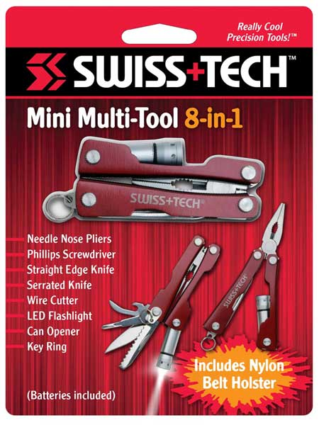 мультитул Swiss Tech Mini Multi-Tool 8-in-1 red-silver