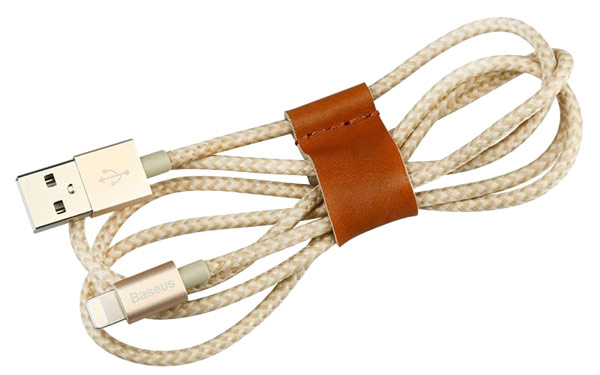 кабель передачи данных Baseus Lightning to USB MFI Antila Series 1,0 m golden