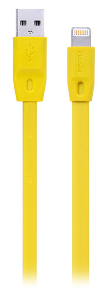 кабель передачи данных Remax Lightning to USB Full Speed Cable Series 1,5м yellow