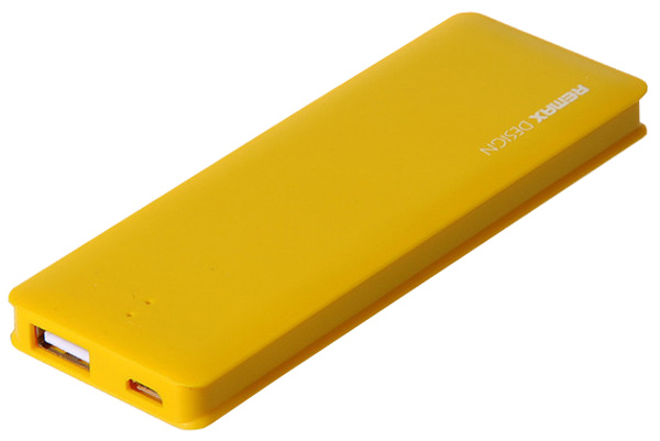 внешний аккумулятор Remax Power Bank Candy bar 5000 mAh yellow