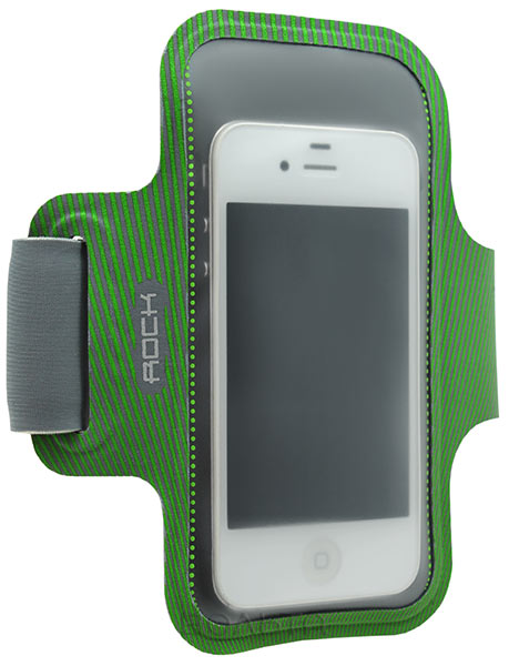 чехол для бега на руку Rock Smart Sport Armband для Apple iPhone 6 4,7 green/grey