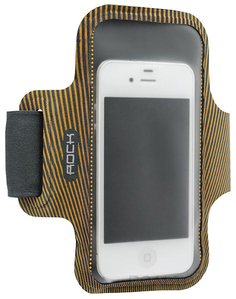 чехол для бега на руку Rock Smart Sport Armband для Apple iPhone 6 4,7 orange/grey