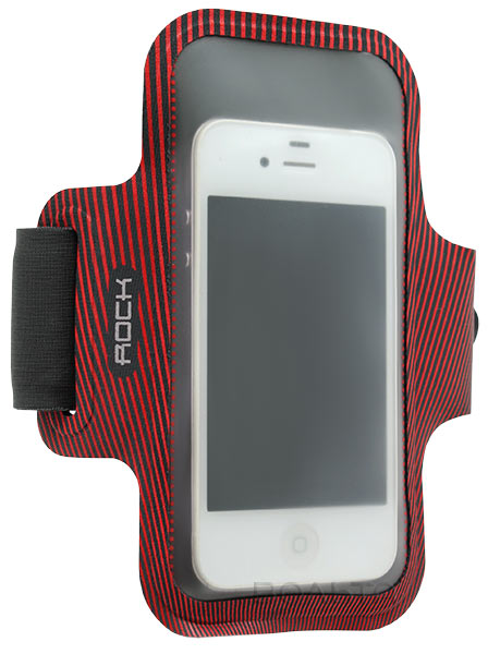 чехол для бега на руку Rock Smart Sport Armband для Apple iPhone 6 4,7 red/grey