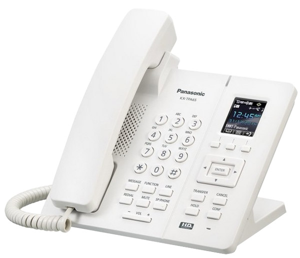 Стационарный DECT телефон Panasonic KX-TPA65RU white