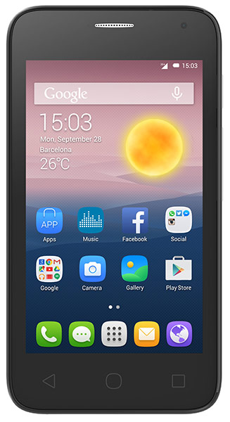 смартфон Alcatel OT4024D PIXI FIRST (2 SIM) metal gold