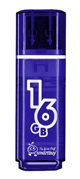 флешка USB SmartBuy Glossy series 16Gb dark blue